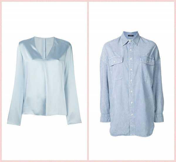 Базовая блузка и джинсовая рубашка