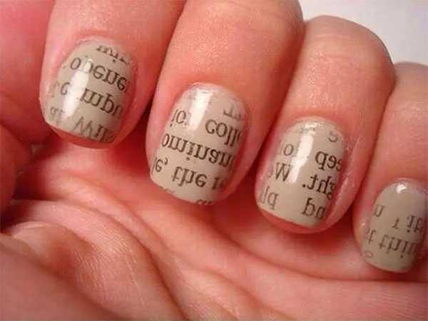 Дизайн ногтей с буквами