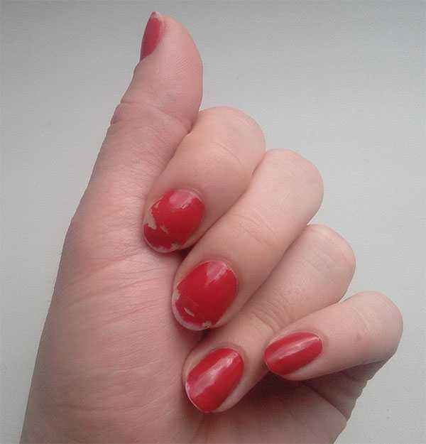 Avon Gel finish оттенок Roses are red через 3 дня