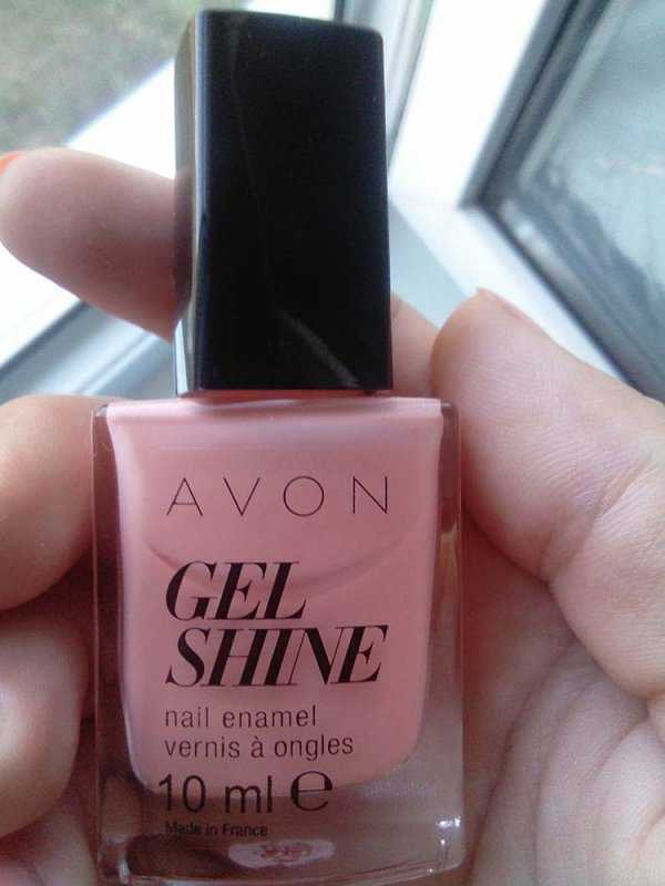 Лак для ногтей Avon Gel shine оттенок Dazzle pink