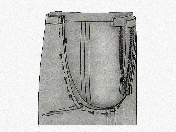 Исправление складок под ягодицами на брюках