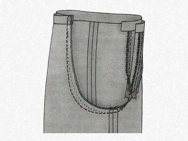 Углубление среднего шва на брюках