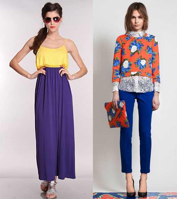 Комплементарное сочетание цветов в одежде