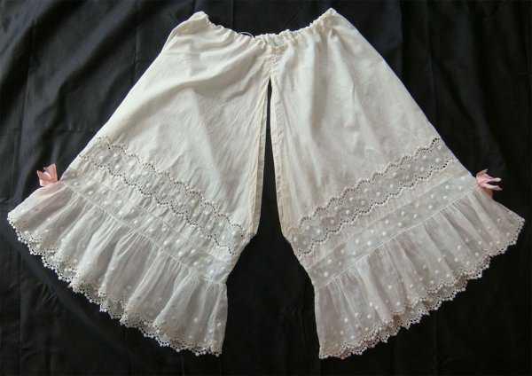 Старинные женские панталоны